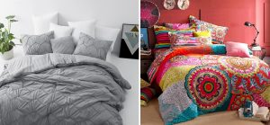 comforter and bed sheet