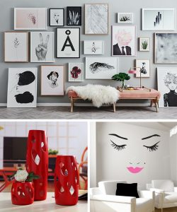 frames vases wall decals