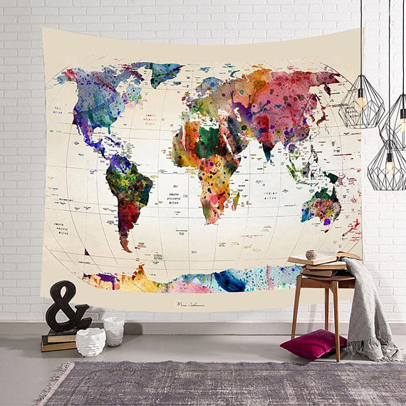 world-map-tapestry